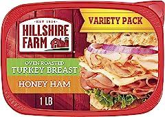Hillshire Farm Ultra Thin Sliced Deli Meat, Oven Roasted Turkey Breast and Honey Ham, 16 oz