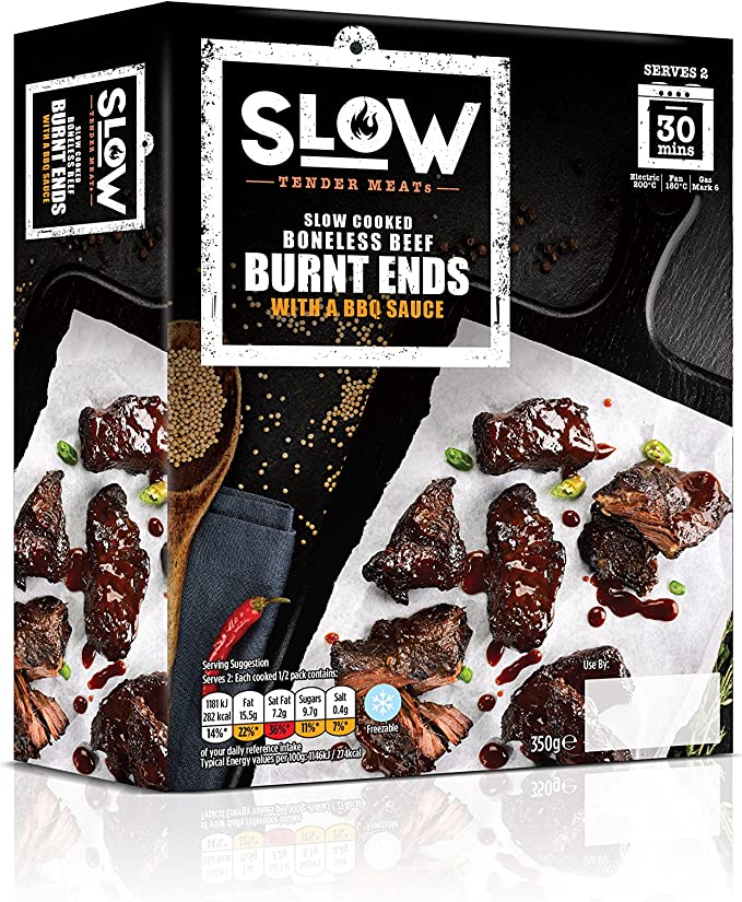SLOW Cooked BBQ Beef Burnt Ends, 350 g: Amazon.co.uk: Grocery
