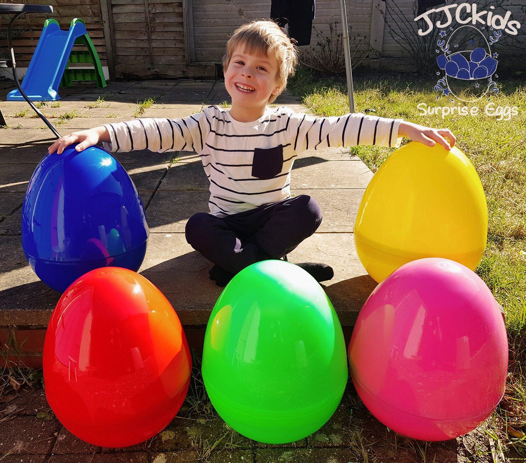 GREEN JJCkids Giant Easter Egg Boys /& Girls Empty Jumbo Huge Surprise Egg
