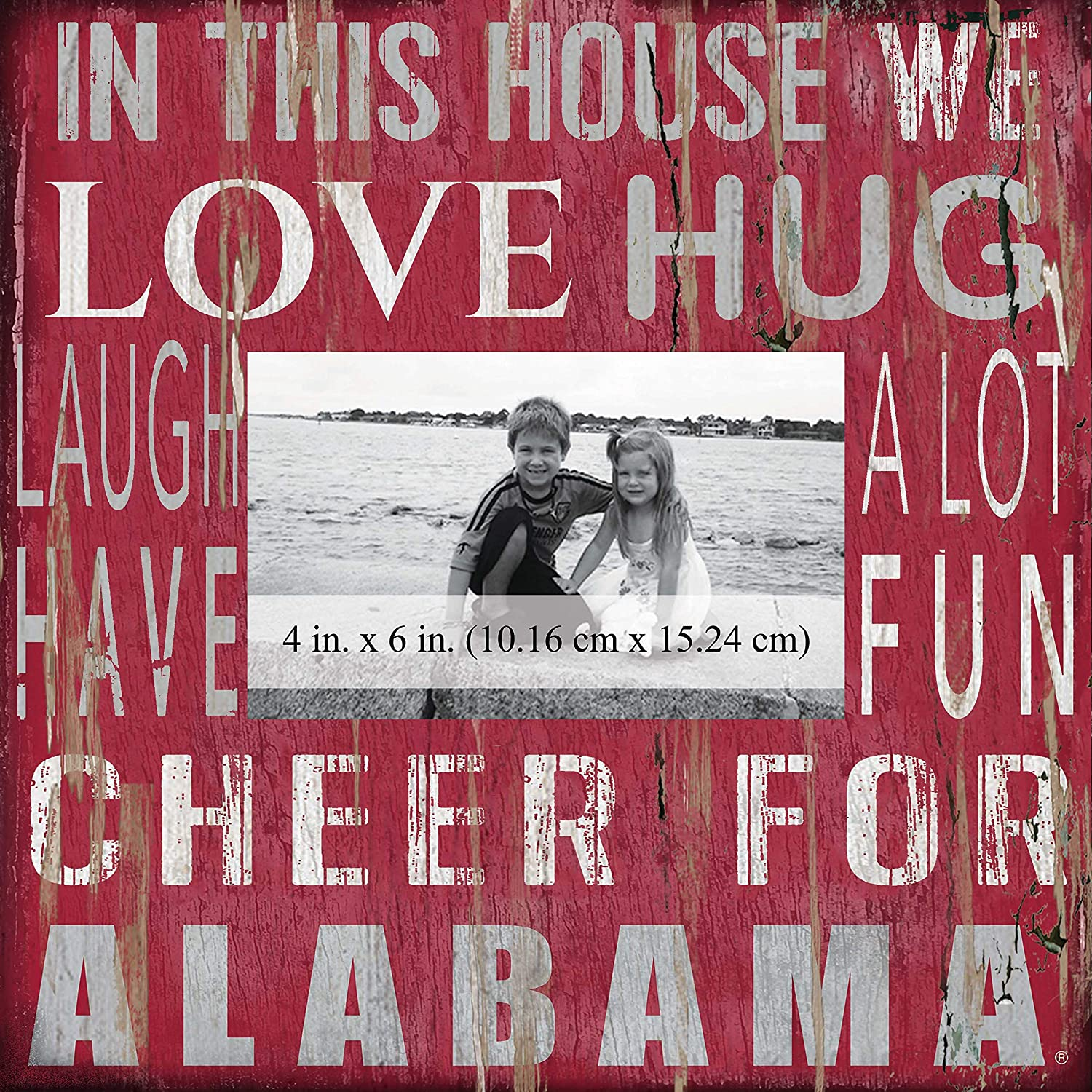 Fan Creations NCAA Alabama Crimson Tide in This House 4 in. x 6 in. Wood Photo Frame