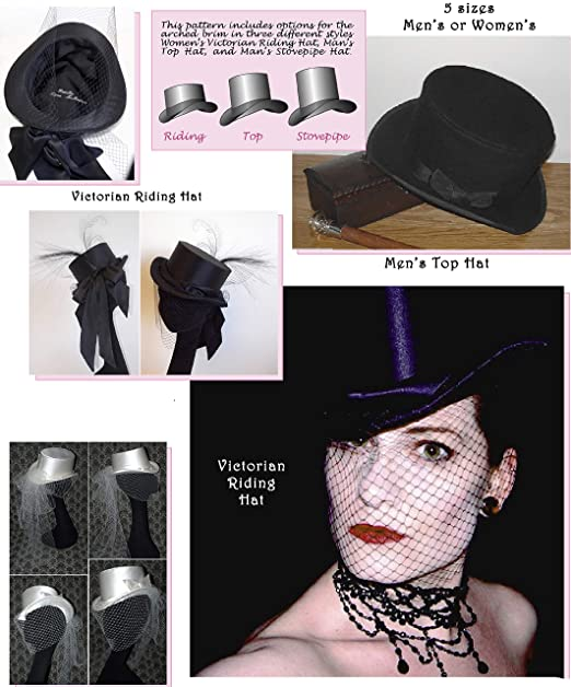 c5d833f4 Image Unavailable. Image not available for. Color: Men's and Women's Top Hat;  Victorian Riding ...