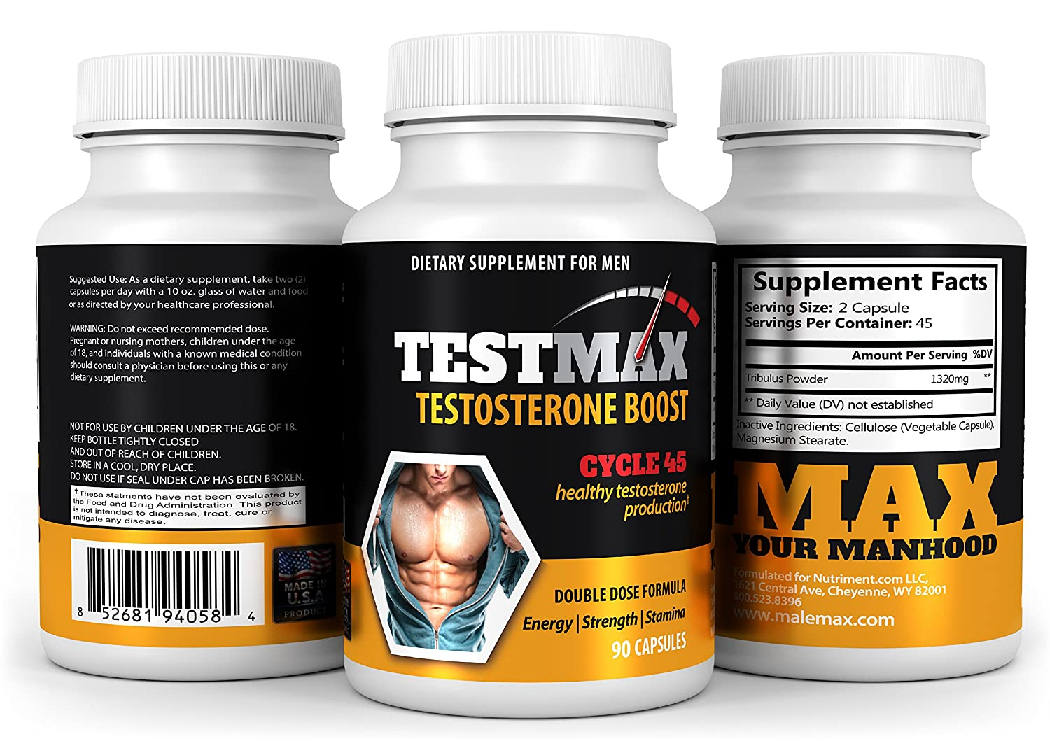 Amazon.com: TestMax Testosterone Booster- 45 Day Supply - Boost Sexual Performance Size and Stamina-: Health & Personal Care