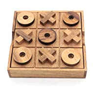 Tic Tac Toe Wood Coffee Tables Family Games to Play and a Classic Game Home Decor for Living Room Rustic Table Decor and Use as Game Top Wood Guest Room Decor Strategy Board Games for Families
