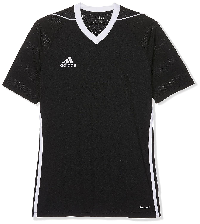 adidas Tiro 17 Jersey, Maglietta A Manica Corta Da Uomo, Nero (Nero/Bianco), L BK5437
