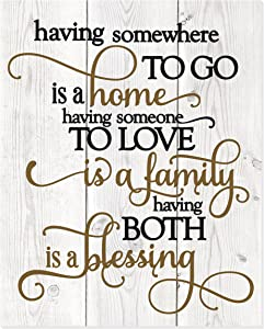 MRC Wood Products Having Somewhere to Go is A Home Rustic Wall Sign 12x15 New
