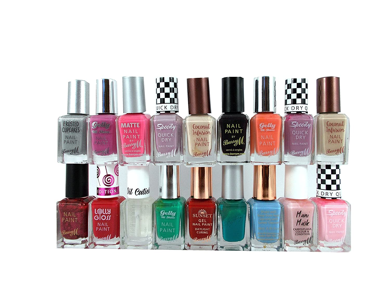 15 x Barry M Nail Paint Polish Set 15-Piece Assorted Colors