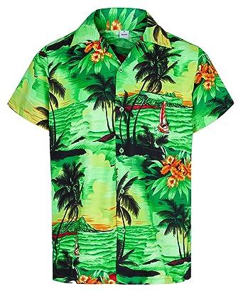 89b6bc9a35a MENS HAWAIIAN SHIRT SHORT SLEEVE STAG BEACH HOLIDAY ALOHA SUMMER FANCY  DRESS HAWAII - ALL SIZES  Amazon.co.uk  Clothing