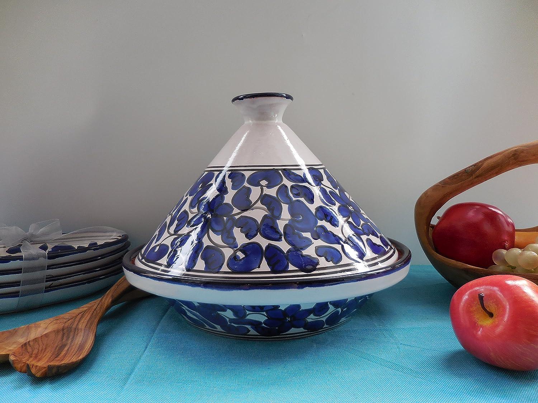 Cookable Tagine, 12-Inch, Floral Design TFL-12