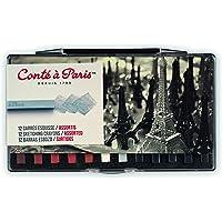 Conté à Paris Schetsen Carre Crayons - Verschillende kleuren (Pak van 12)