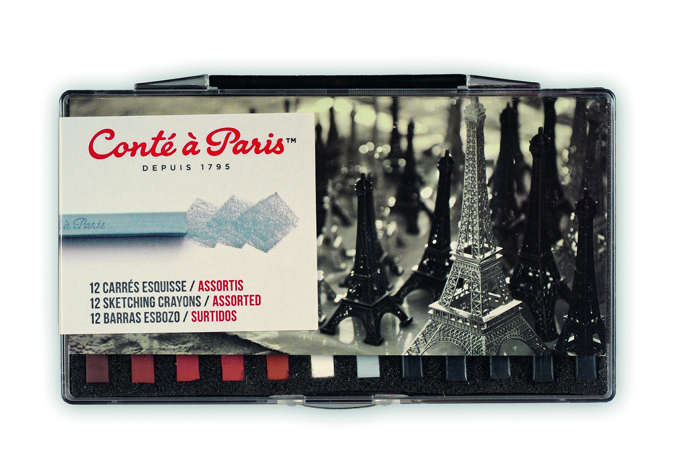 Conté à Paris Sketching Crayons Set with 12 Assorted Colors by Cont  Paris (Image #1)