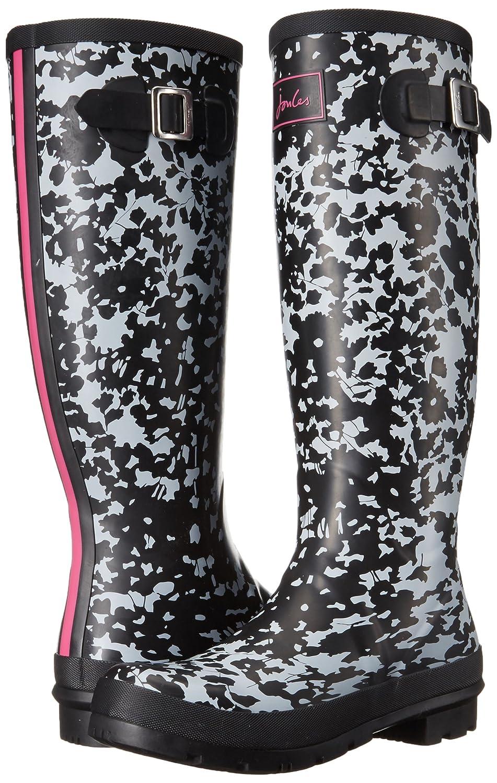 Joules Women's Welly Print Rain Boot B01LXTQQVH 5 B(M) US|Silver Ditsy