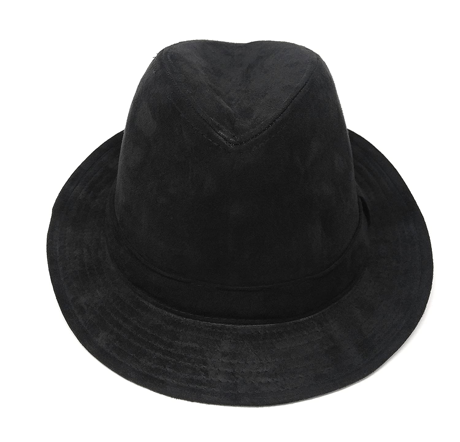 f4abcc5efac024 Gangster Mob Mens Rude Boy Wide Brim Fedora, Crushable Wool Felt Outback Hat  at Amazon Men's Clothing store: