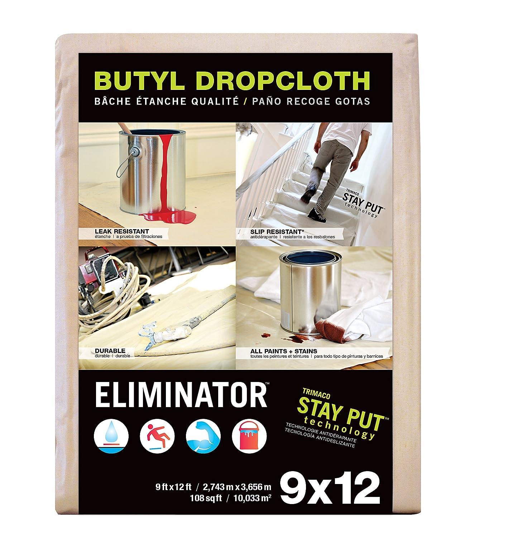 amazoncom trimaco eliminator butyl drop cloth 12feet x 15feet home improvement