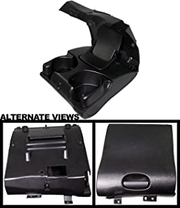 APDTY 139951 Cup Holder Center Dash Dashboard Instrument Panel Mounted Fits 1998-2001 Dodge Ram 1500 2500 3500 Pickup (Agate (BLACK) Color; Replaces 5FR421AZAE)