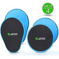 Gliding Discs Core Sliders JGOO Fitness Set von 4 Sliding Discs Dual Sided Use auf jeder Oberfläche, für CrossFit, Gym, Reisen oder Home Workouts, Oberkörper Glutes Bauchtraining Ganzkörper Workout