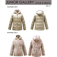 Gallery Girls' Big Casual Mid Length Reversible Hooded Parka