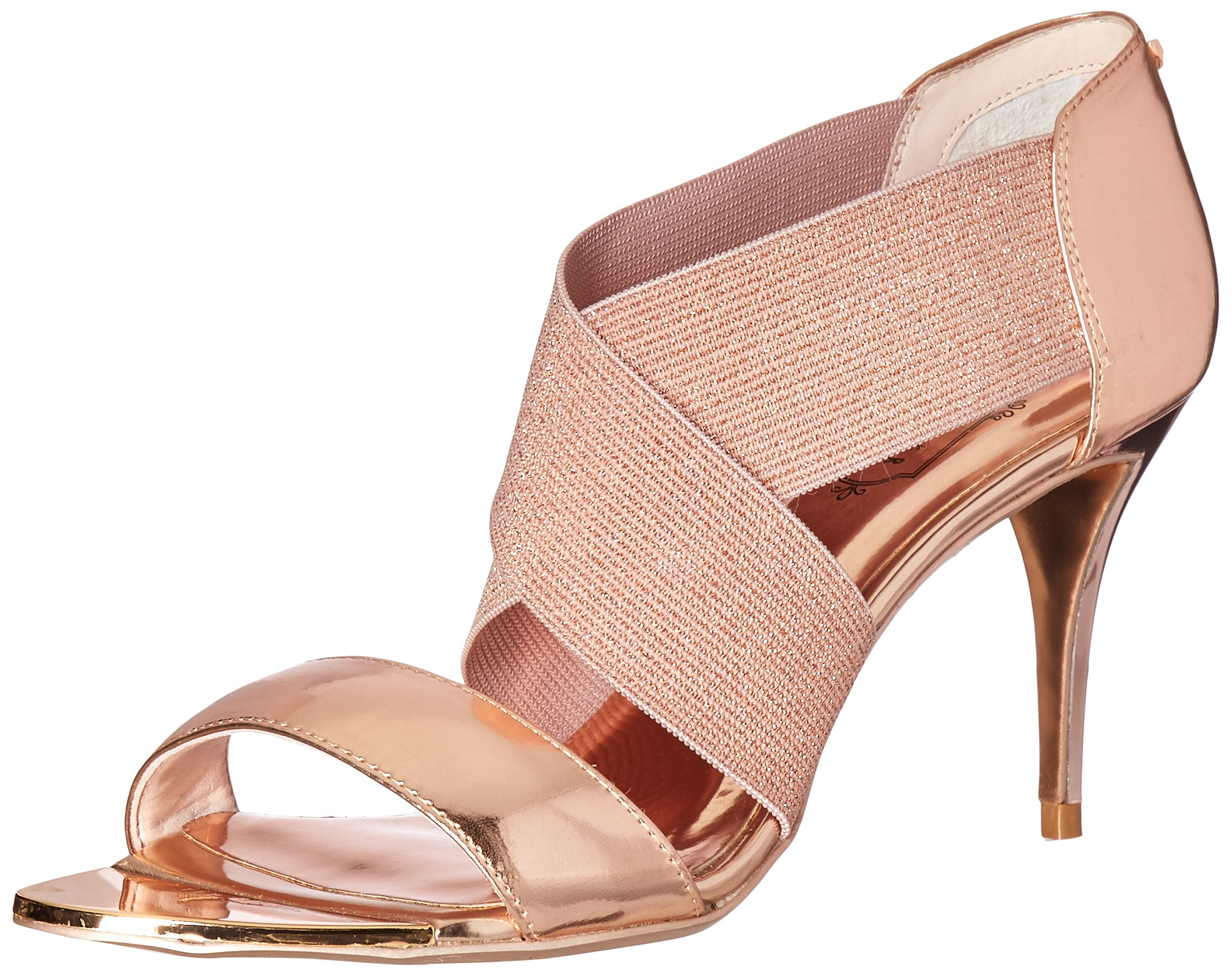 Ted Baker Women's Leniya Lthr AF Formal Shoe Dress Sandal, Rose Gold, 8.5 M US