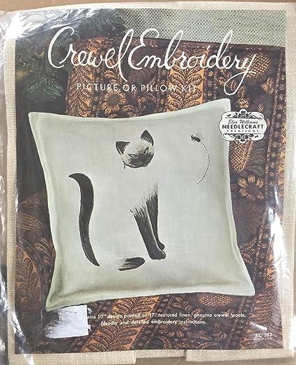 Amazon Elsa Williams Crewel Pillow Kit Kc 283