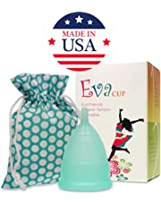 Anigan EvaCup (Made in USA) - Menstrual Cup (Small, Blizzard Blue)
