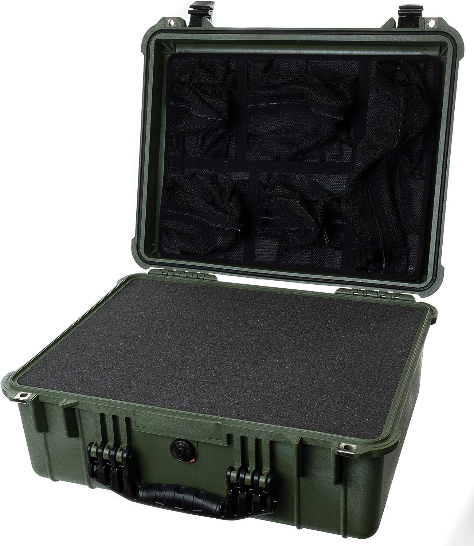 OD Green /& Black Pelican 1520 case with Foam.