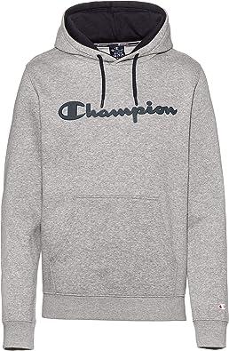 Champion Sudadera Hombre Algodon Logo Capucha 213424 (l, Gris ...