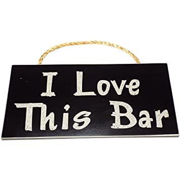 i love this bar vintage wood sign for wall decor perfect gift for bar - Bar Wall Decor