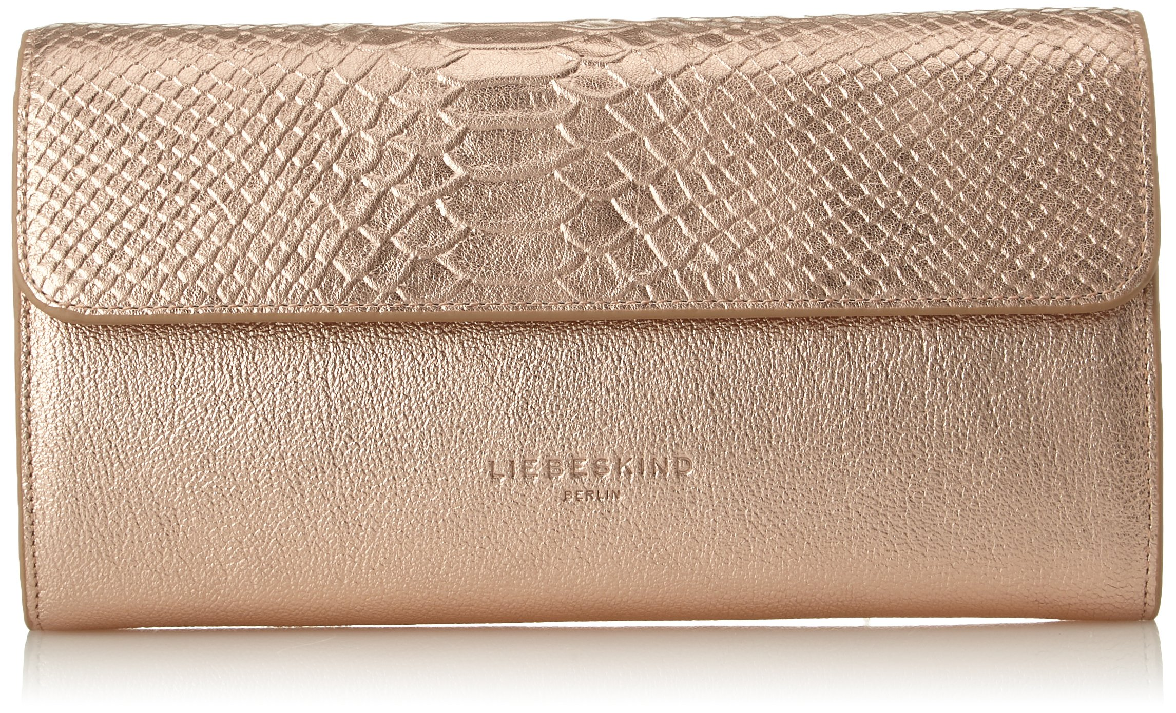 Liebeskind Berlin Women's Mariaf8 Metallic Leather Chain Crossbody, Rose Gold