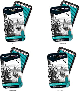 Medium Leads Prismacolor 24192 Premier Turquoise Graphite Sketching Pencils 12-Count