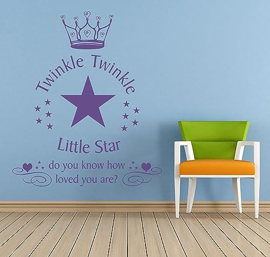 Amazon.com: Twinkle Twinkle Little Star Vinyl Wall Art Sticker ...