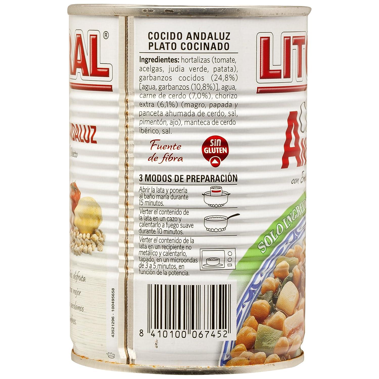 Litoral - Cocido Andaluz con Embutido Selecto - 425 g: Amazon.es: Alimentación y bebidas