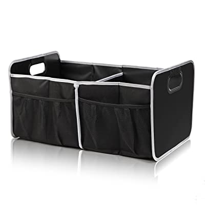 Car Trunk Organizer - Premium Water Resistant Grocery Storage Bag with Strong Handles - Collapsible Design: Home Improvement