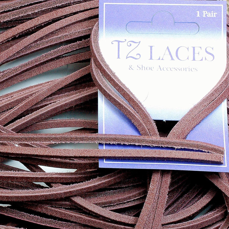 TZ Laces Cuero Cuadrado Corte 120cm x 3 a 4mm Deck Zapato//Cordones de Botas Chancletas