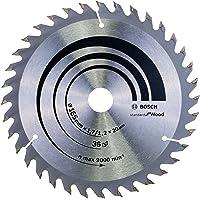 Bosch Professional Cirkelsågblad Optiline Wood för cirkelsågar, 165 x 20/16 x 1,7 mm, 36, 2608642602