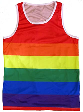81677309e49 Amazon.com: Exist Patriotic American Rainbow Colors Flag Tank Top Shirt:  Clothing