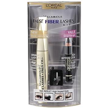 3a51a671e0b Amazon.com : Loreal Paris Voluminous False Fiber Mascara Lash Kit : L Oreal  Eyeliner : Beauty