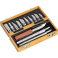 Extol Craft 91350Cuchillos para tallar madera (14piezas)