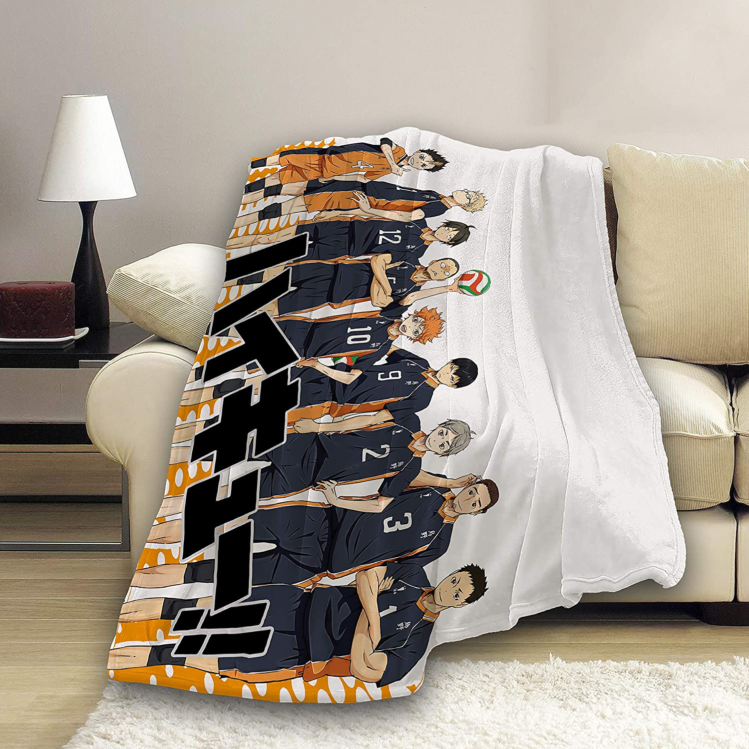 Amazon.com: Yagi Mika Ultra-Soft Flannel Blankets Haikyuu!! Bed Throws For Couch, Bed, Sofa - (Haikyuu6, Small 50x40 In): Kitchen & Dining
