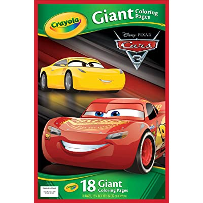 Crayola Cars 3 Giant Coloring Pages: Toys & Games