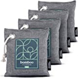 Bamboo Charcoal Air Purifying Bag 4-Pack – Naturally Freshen Air with Powerful Activated Charcoal Bags Odor Absorber – Kid an