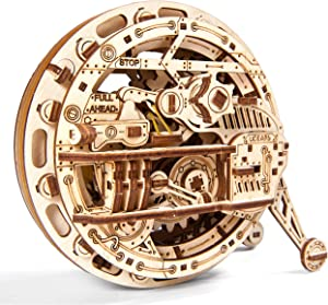 Ugears Monowheel 3D Mechanical Wheel, Wooden Model for Self Assembling, DIY, Brainteaser, Best Gift