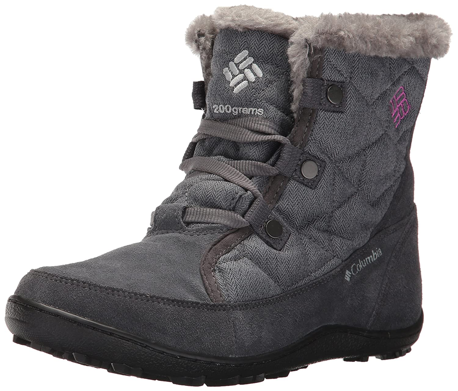 Columbia Women's Minx Shorty Alta Omni-Heat Snow Boot B01NCNF11V 7 B(M) US|Graphite, Intense Violet