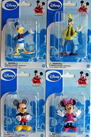 Mickey Mouse Clubhouse Figurines: Mickey, Minnie, Donald & Goofy (Set of 4): Amazon.es: Juguetes y juegos