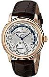 Frederique Constant Men's FC-718WM4H4 Worldtimer Rose Gold Watch