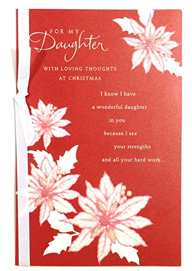 Christmas Thoughts.Amazon Com Christmas Card For Daughter For My Daughter