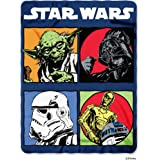 Disney Lucas Films' Star Wars Classic Long Time Ago Printed Fleece Throw Blanket, 45 by 60""