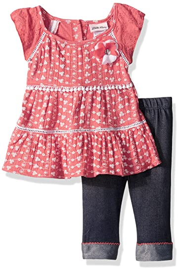 3dd1fe6e2336 Amazon.com: Little Lass Baby Girls' 2 Pc Capri Set Eyelet: Clothing