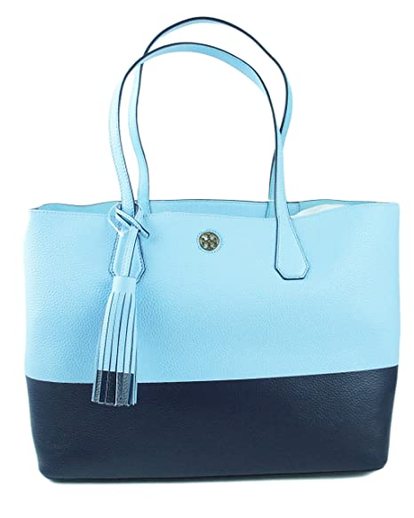 5f458f573ab TORY BURCH Color Block Perry Pebbled Leather Large Tote  Amazon.in  Bags
