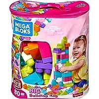 Mega Bloks Juego Gran Bolsa Rosa para Construir, Multicolor