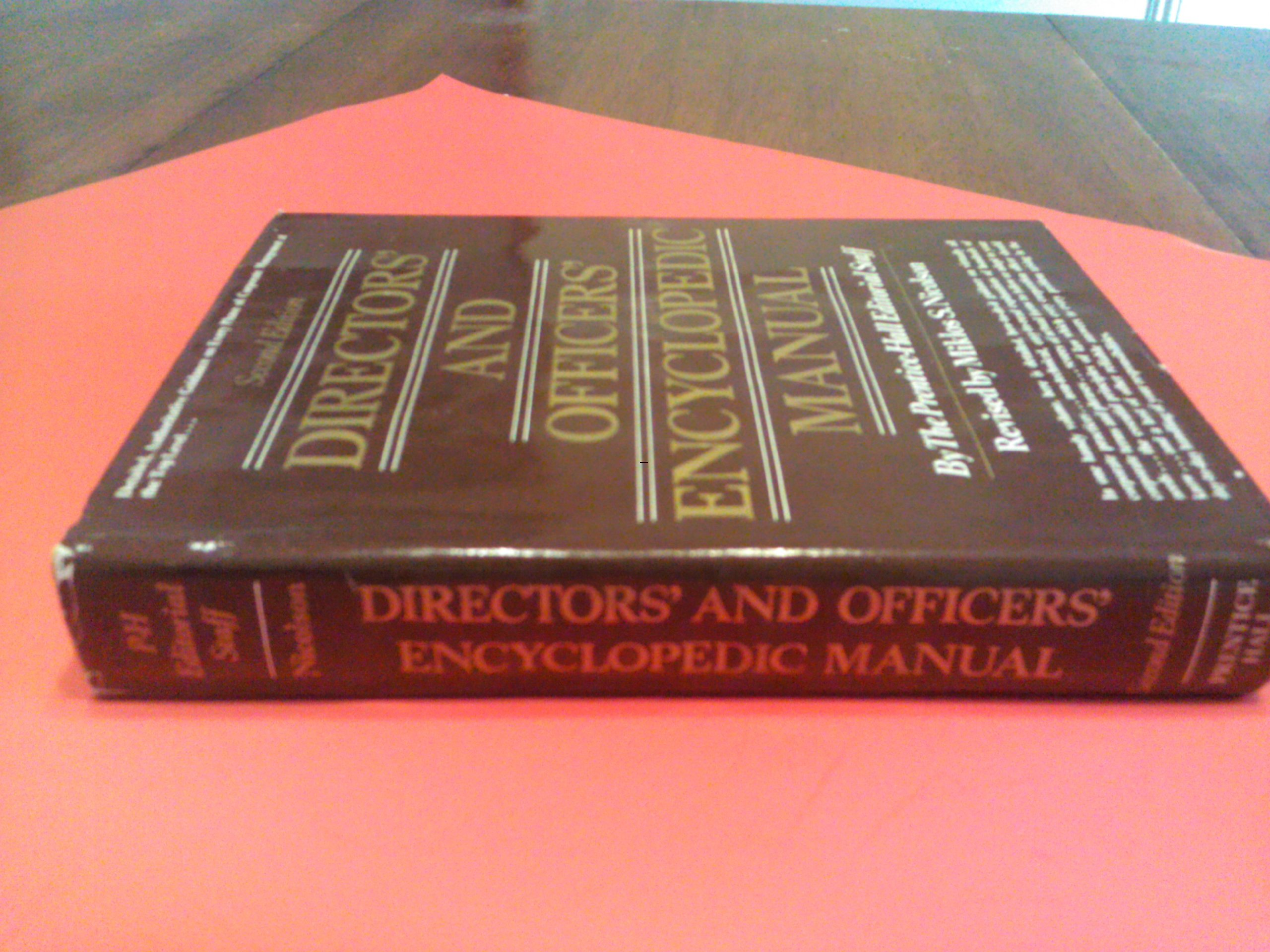 Amazon.fr - Directors' and officers' encyclopedic manual - inc  Prentice-Hall - Livres