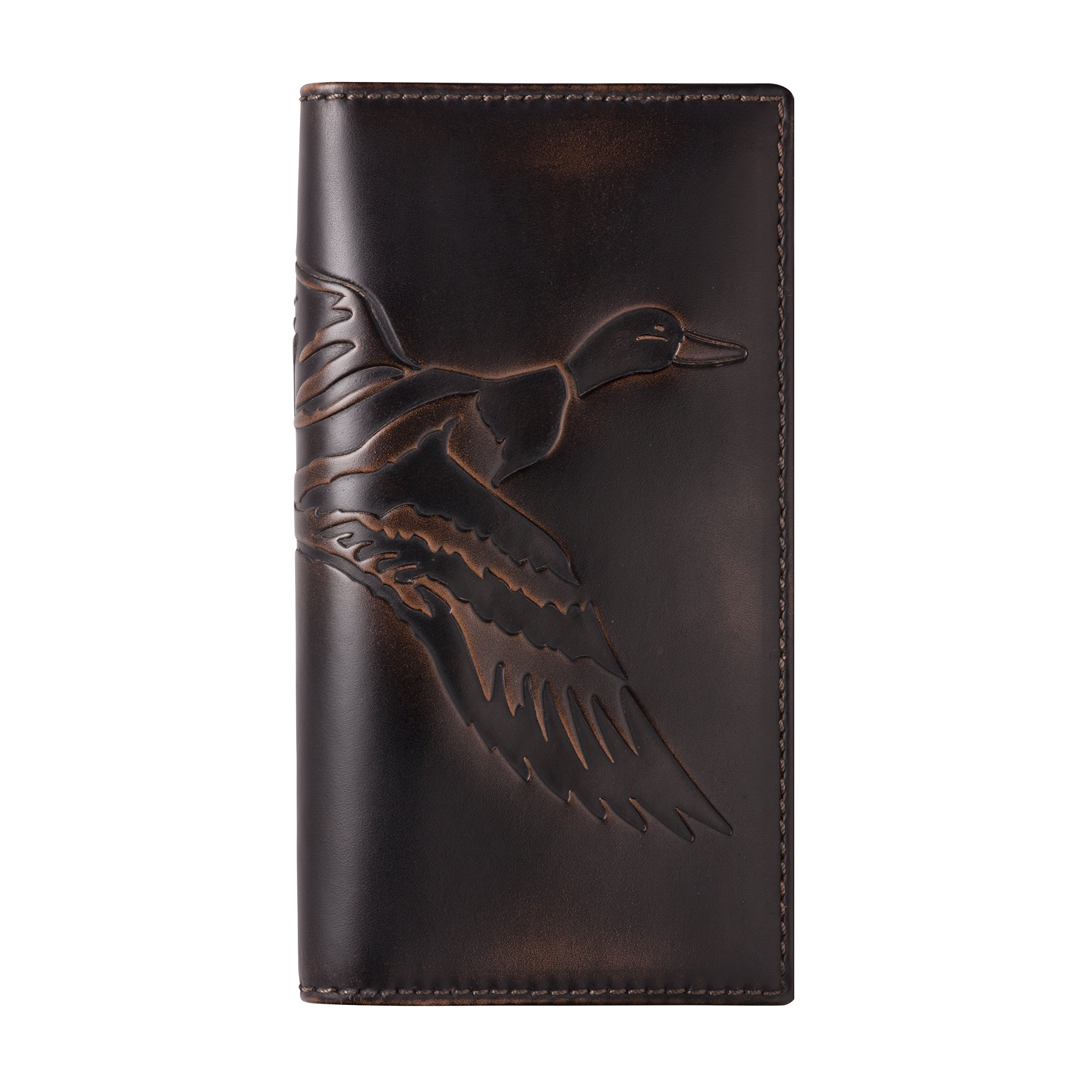 HOJ Co. DUCK Tall Wallet-Premium Leather-Hand Burnished Mens Wallet-Hunter Gift